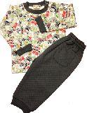 子供服 $A ★キバドクロ キルト パジャマ グレー 80・90cm