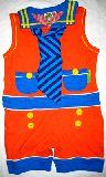 子供服 ●$88A ネクタイ付き サロペット 90cm