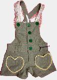 子供服 ●$A88★ハートなポッケット付き スウエット素材サロペット