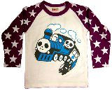子供服 ●$  A99★ パンダ:トーマス ロンT パープル 80cm