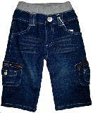 子供服 $ デニム サイドポケット付き ハーフパンツ ブルー