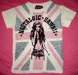 子供服 $A ユニオンジャック 女の子柄ガーゼチック Tシャツ 100cm