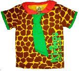 子供服 ●$88A キリンちゃん模様 セーラーカラーTシャツ 110cm
