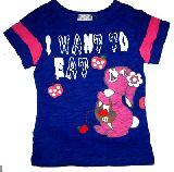子供服 $A ★色がキレイ!うさちゃん Tシャツ 80・110cm