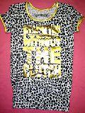 子供服 ▲$ ひょう柄 ロング Tシャツ シロ 120から150cm