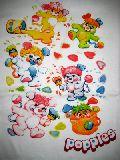 子供服 $※A99●ポップルズ Tシャツ:ペンキ塗りシロ:110・130・レディースSサイズ