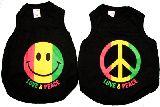 子供服 ◆$※99RFA ★ワンコの洋服 ラスタスマイル:ピースマーク♪¥1000