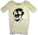 子供服 $ドクロ:ヘッドホン ロング Tシャツ シロ 120から150cm
