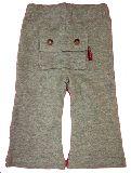 子供服 $ 後ろデッカイ ポケット付き 7分丈ストレッチボトム:グレー80から120cm