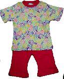 子供服 $A¥1900 半そで ニコちゃんお顔いっぱい パジャマ ベージュ