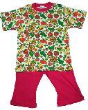 子供服 $A¥1900 半そで フルーツ・お花柄 パジャマ