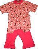 子供服 $A¥1900 半そで かわいいウサちゃん パジャマ ピンク