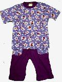 子供服 $A★ 半そで かわいいウサちゃん パジャマ パープル