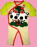 子供服 $A かわいい!パンダちゃん ロンパース 60〜70cm