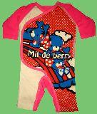 子供服 $99A ★かわいい!ワンコ・ドット ロンパース アカ 60〜70cm