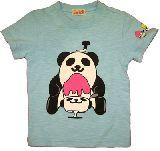 子供服 ◆$A かき氷パンダ Tシャツ ミズイロ 100cm