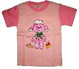 子供服 $●★AャRF★¥1500 ヤムヤムズ プードル:ラグランTシャツ ピンク 80から110cm