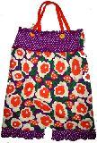 子供服 $お花ときのこ柄 キャミサロペット パープル 80から130cmまで