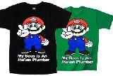 子供服 $ピースマリオ:Tシャツ  80からメンズサイズまで[7XL」
