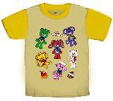 子供服 $●ARF★ ヤムヤムズ 全員集合:ラグランTシャツ 80・90・100・110cm