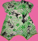 子供服 $A 形がかわいい! リアルなウサちゃんフォトプリント:ロングTシャツ 95・120cm