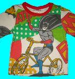 子供服 $A スーパーマン&バットマン コミック総柄 Tシャツ 80cm