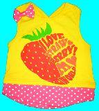 子供服 $A ★ いちご:ドット:リボン かわいい★キャミタンク:95・110cm