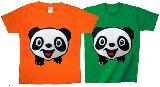 子供服 ※ャノ★¥1900〜★保育園:パンダ★:Tシャツ 80cm〜メンズまで「7XL」