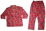 子供服 $A¥1600 うさちゃん:パンダ総柄 長袖パジャマ ピンク 80から130cmまで