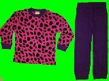 子供服 $A  ★ヒョウ柄 長袖:パジャマ パープル80・95・120cm