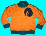 子供服 $A99 アフロマン あったか裏起毛付きジャージ オレンジ 80・90cm