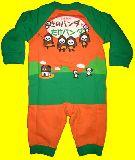子供服 ●$A88★たけのこの里★パロディ★たけパンダ スウエットロンパース 70cm