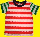 子供服 $A¥1600  袖色違いボーダー:Tシャツ 80・90・100・120cm