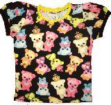 子供服 ▲$A カラフルベア:総柄 クロ Tシャツ ・100・・130cm