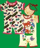 子供服 $※88A 半袖ロンパース2枚セット::クマ ビブもついてて お買い得〜 その�B 60:80cm
