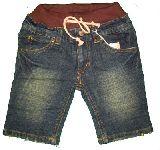子供服 $ デニム ウエストリブ ハーフパンツ:90から140cm