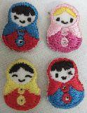 子供服 ◆RF88A★ミニ★アイロンワッペン マトリョーシカ カラー4色