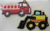 子供服 $※88ARF※ ★ミニ★アイロンワッペン 消防車:ブルドーザー ¥180