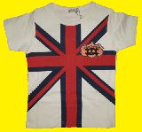 子供服 ユニオンジャックなTシャツ シロ 100から140cmまで