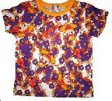 子供服 $99A うさちゃん:ヒヨコ お花総柄 Tシャツ 110・120cm