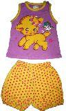 子供服 $A レトロなひつじ:ヒヨコ タンクトップ&ブルマセット 70・90cm