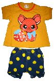 子供服 $A レトロなネコちゃん Tシャツ&ブルマセット 70・90CM