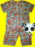 子供服 $A 半そで うさ&パンダ:風船 総柄 パジャマ 90・95・100・110・120・130