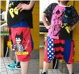 子供服 ◆$※99RTF※★大人サイズ フリー サルエルボトム:バットマン
