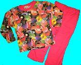 子供服 $A★マカロン:スイーツ柄 長袖パジャマ ピンク 80から150cmまで