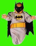 子供服 $RF99A★バットマン マスク付き おくるみ