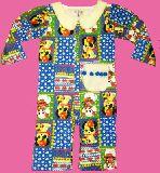 子供服 $A ★レトロアニマル:パッチワーク ロンパース 80cm