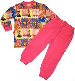 子供服 $A ★パッチワーク レトロアニマル キルト:長袖パジャマ ピンク 80から150cmまで