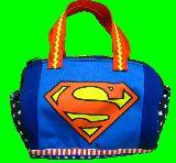 子供服 %※モ99R ※★スーパーマン★ ロゴマーク ドラムバッグ