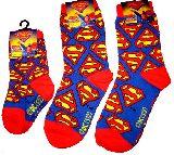 子供服 $A ちょっと長い 10〜24�p スーパーマン:ロゴ くつ下